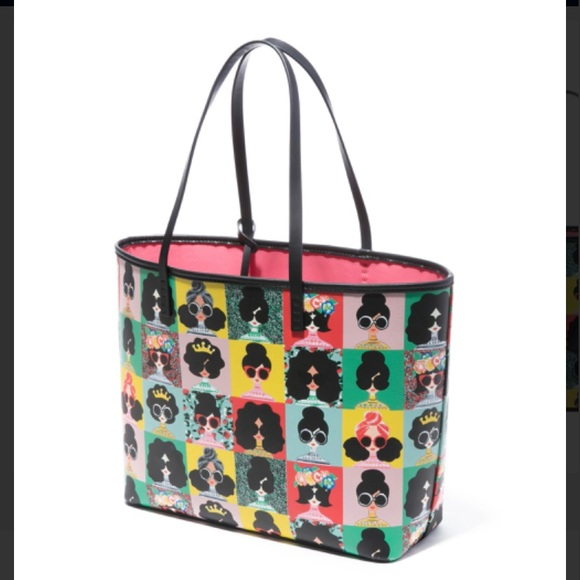 Alice and Olivia Veronica Staceface Tote Bag